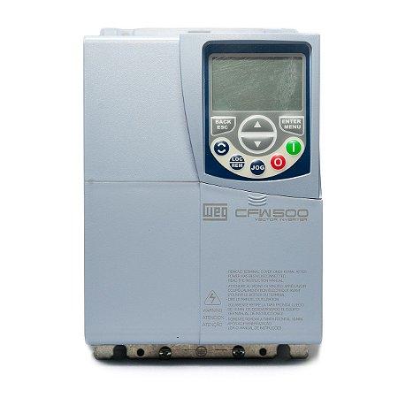 Inversor de Frequência Weg CFW500 Tri 10cv 16A 380V ou 440V S/P