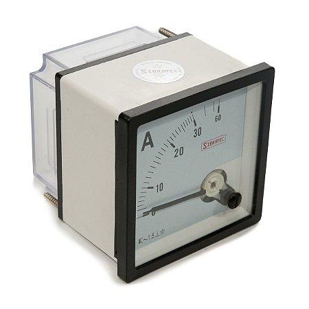 Amperimetro Analogico 72x72mm Medição Direta 30A