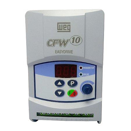 Inversor de Frequencia Weg CFW10 Plus Tri 1cv 4A 220V