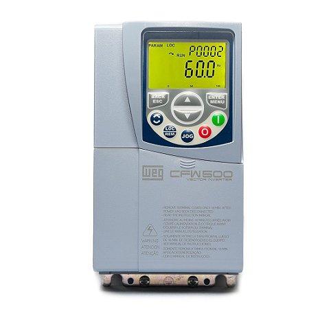 Inversor de Frequência Weg CFW500 3cv 10A 220V Mono Tri