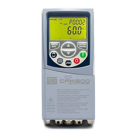 Inversor de Frequencia Weg CFW500 Mono 1CV 220V 4,3A C/P