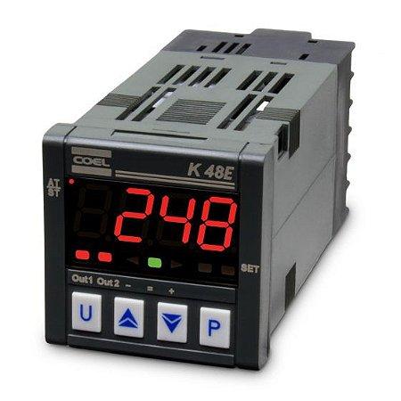 Controlador Digital de Temperatura K48E 100-240Vca PT100-MV