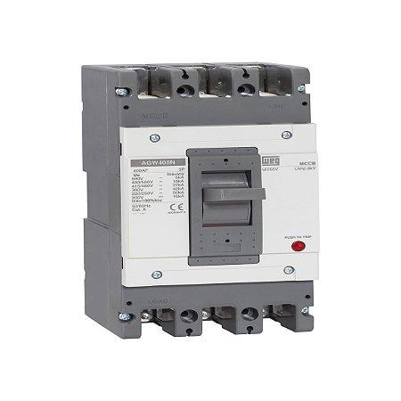 Disjuntor Caixa Moldada Weg Tripolar 300A Agw400N-Dx300-3