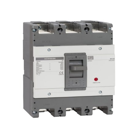 Disjuntor em Caixa Moldada AGW800 Tripolar 500A Weg