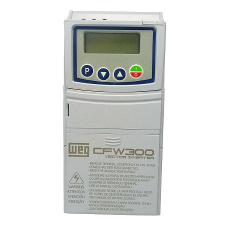 Inversor de Frequência Weg CFW300 Mono 0,25cv 1,6A 127V