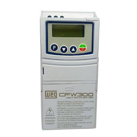 Inversor de Frequência Weg CFW300 Mono 1,5cv 6A 127V