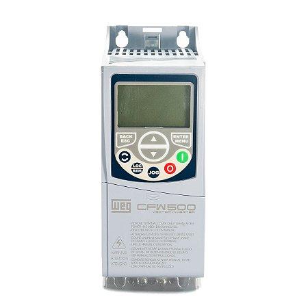 Inversor de Frequencia Weg CFW500 Mono 0,25CV 220V 1,6A