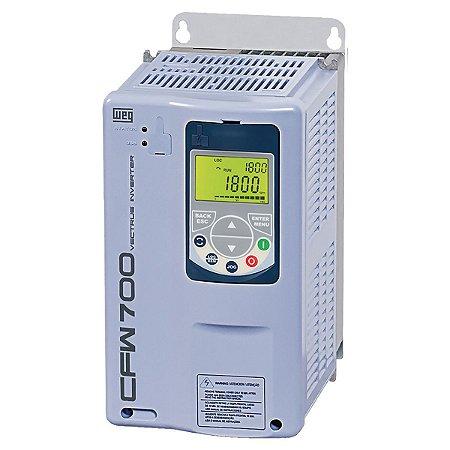 Inversor de Frequência Weg CFW700 Trifásico 60cv 88A 380V ou 440V