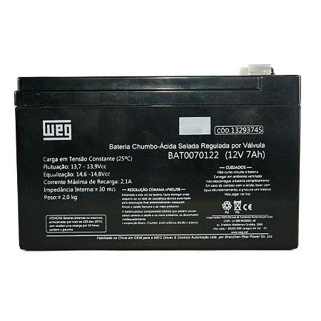 Bateria Selada Weg para Nobreak alarme Weg VRLA 7Ah 12V