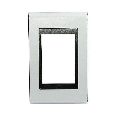 Placa 4x2 3 Posicoes Refinatto Weg Branco e Preto