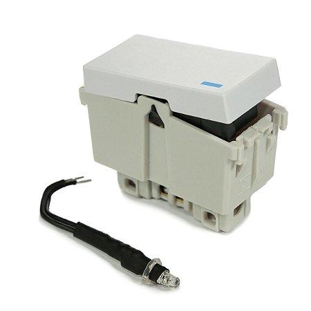 Modulo Interruptor Simples Paralelo com Led 10A Refinatto Weg Branco