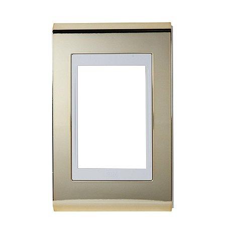 Placa 4x2 3 Posicoes Refinatto Weg Ouro e Branco