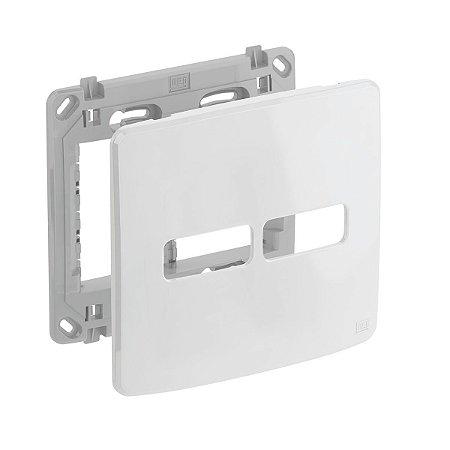 Placa 4x4 2 Posiçoes Branca + Suporte Compose Weg