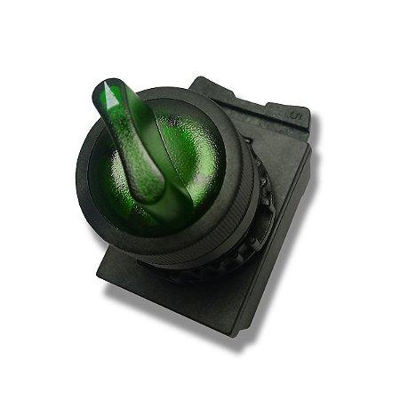 Comutador iluminado Weg 2 posições Fixas 1NA 220-240VCA Verde