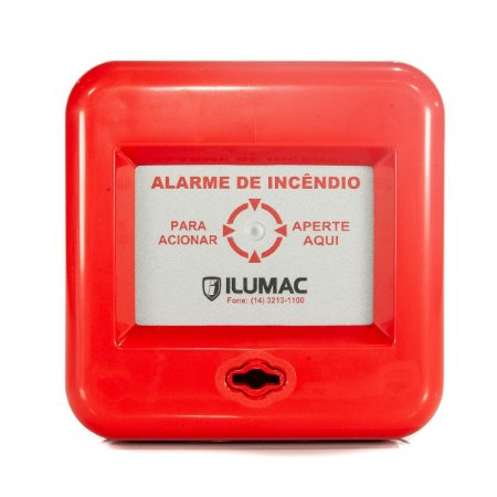 Acionador Manual de Alarme de Incendio 10 a 28Vcc Ilumac