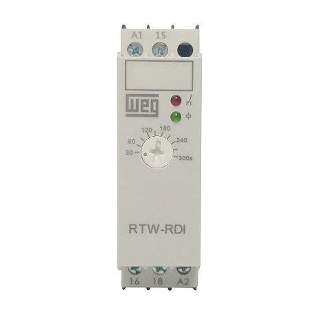 Relé Temporizador Weg Retardo na Desenergização 30-300s 24-240Vca 1NAF