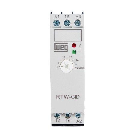 Relé Tempo Cíclico Weg RTW-CID01 180-1800s 220-240Vca ou 24Vcc