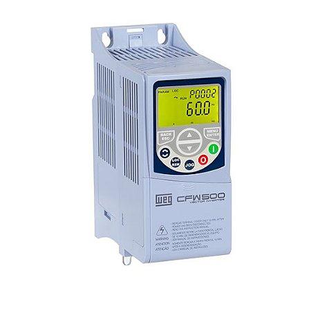 Inversor de Frequência Weg CFW500 Mono/Tri 0,5CV 2,6A 220V