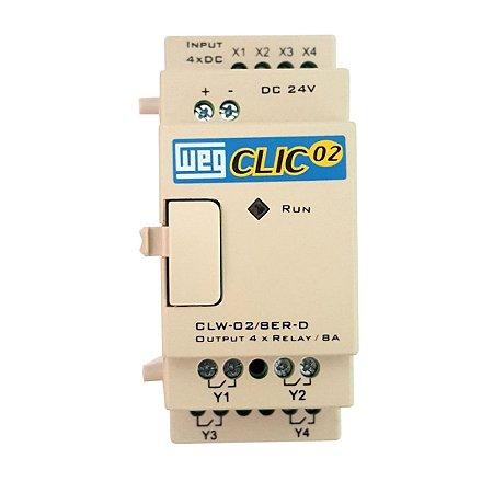 Unidade de Expansão Weg CLW-02 4PT 3RD para CLP Clic02