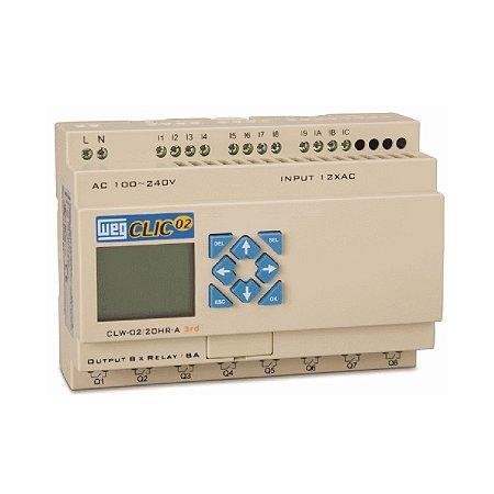 098aeed4696 Controlador Lógico Programável CLW-02 20VT-D 3RD Clic02 24Vcc Weg