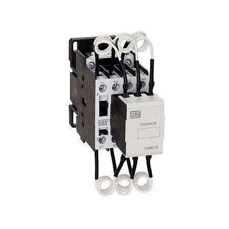 Contator Manobra de Capacitores CWMC9-10-30 10Kvar 1NA 380V Weg
