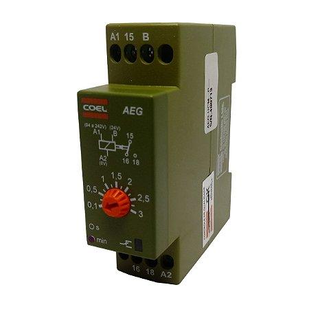 Rele Temporizador Coel AEG 3Min Retardo Pulso 94-242V e 24V
