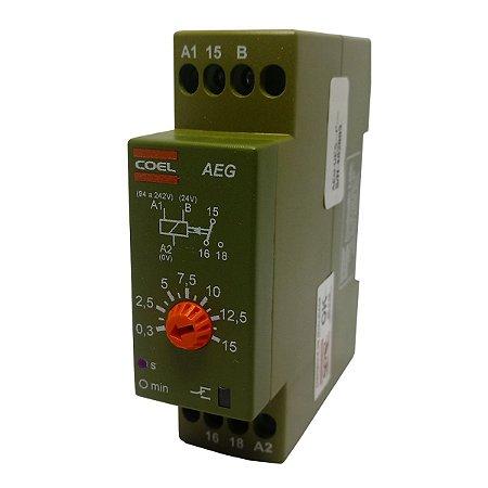 Rele Temporizador Coel AEG 15Seg Retardo Pulso 94-242V e 24V