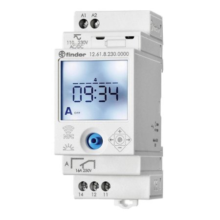 Rele Programador Horario Finder Semanal NFC 1Rev 230Vac