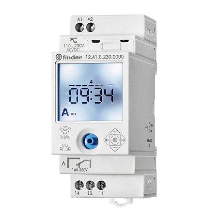Rele Programador Horario Finder Semanal Astro NFC 1Rev 230Vac