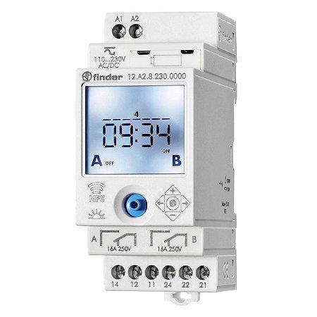 Rele Programador Horario Finder Semanal Astro NFC 2Rev 12-24V
