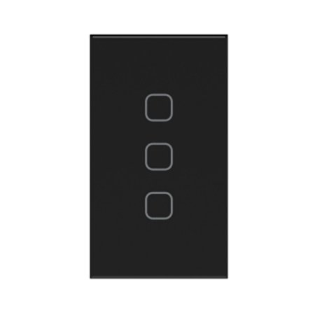 Interruptor Touch Easy Light Preto 3 Canais Tholz