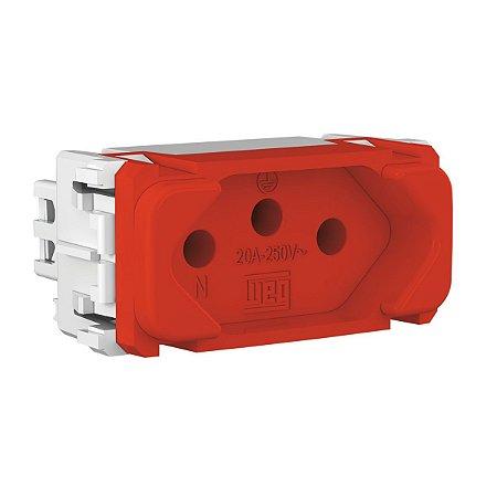 Modulo Tomada 2P+T Vermelha 20A 250V Compose Weg