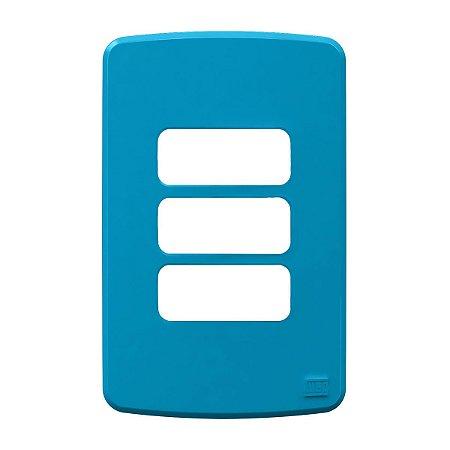 Placa 4x2 3 Posiçoes Azul Compose Weg