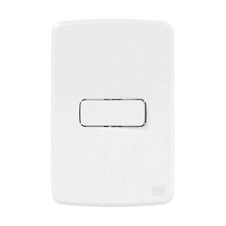 Placa 4x2 + Suporte + Interruptor Simples 10A 250V Compose Weg