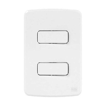 Placa 4x2 + Suporte + 2 Interruptores Simples 10A 250V Compose Weg