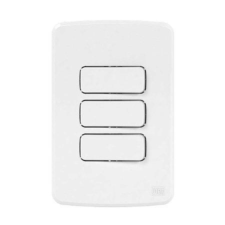 Placa 4x2 + 2 Interruptores Paralelos + 1 Simples Compose Weg
