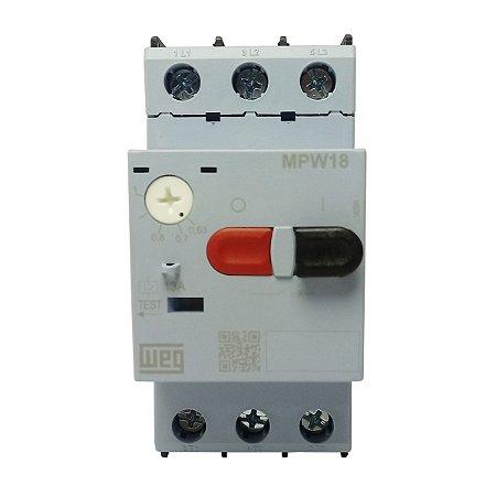Disjuntor Motor Weg MPW18 Ajuste 0,63-1A