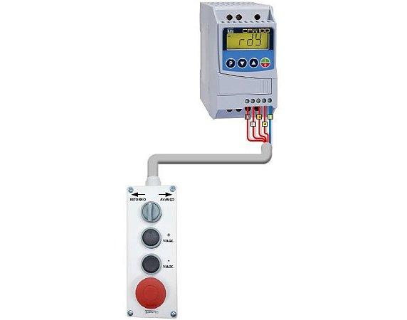 Inversor Weg Cfw100 0,5cv + Botoeira para Velocidade Pulso