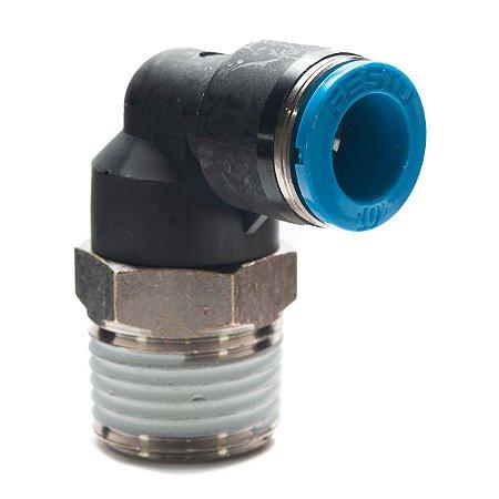 Conexao Pneumatica Engate Rapido Tipo L Festo 1/2 x 10mm