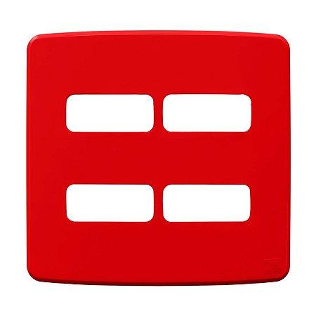 Placa 4x4 4 Posiçoes Compose Vermelha Weg
