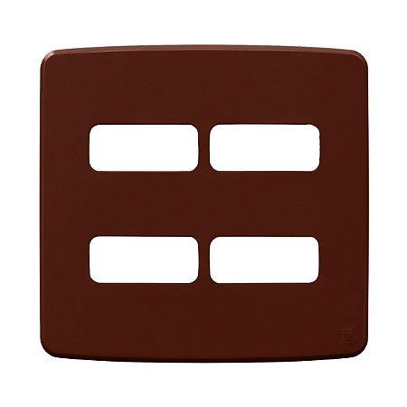 Placa 4x4 4 Posiçoes Compose Marrom Weg