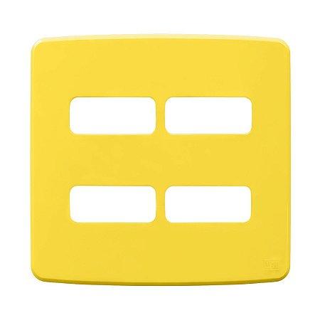 Placa 4x4 4 Posiçoes Compose Amarela Weg