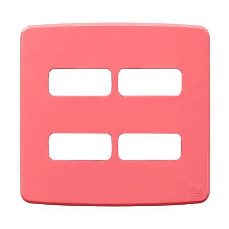 Placa 4x4 4 Posiçoes Compose Rosa Weg