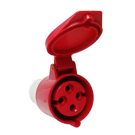 Tomada Industrial Pendente 224 32A 6H 380-415V 3P+T Vermelha