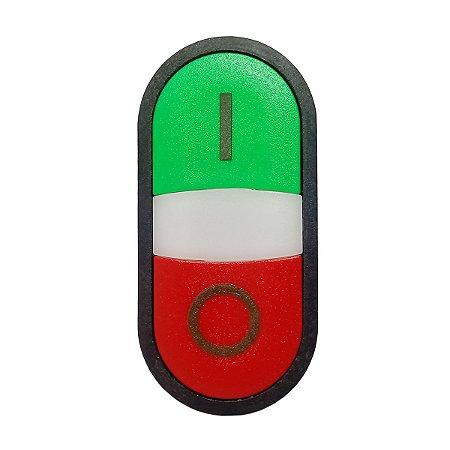 Botão Duplo Faceado Weg Iluminado CSW-BD 24V 1NA+1NF