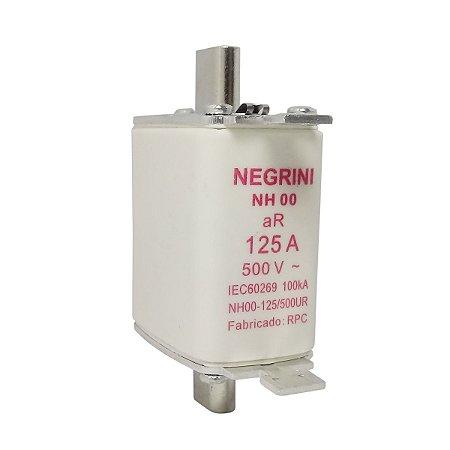 Fusível Tipo NH00 125A x 500V (Ultra Rapido) Negrini