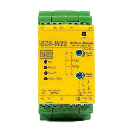 Rele Monitor de Segurança Velocidade Zero Weg SZS-W/22 NR12