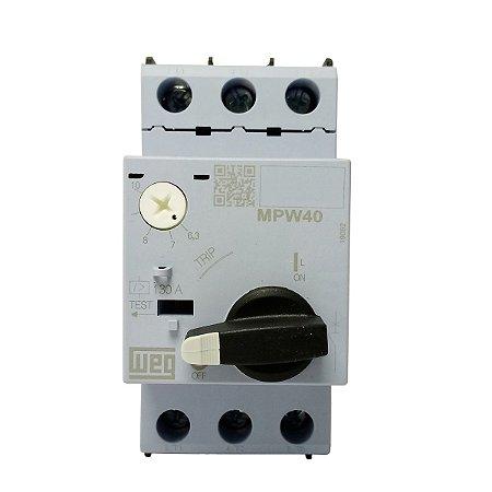 Disjuntor Motor Ajuste MPW40 6,3-10A Weg