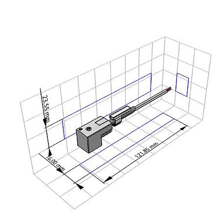 Cabo com Conector Festo KMEB 1 24V 2,5 LED