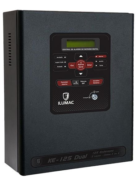 Central Alarme de Incêndio Endereçável Dual KE-125 Ilumac